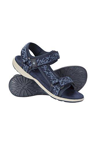 Mountain warehouse beachtime sandals - pattini di estate di phylon midsole, flip-flop leggeri, montaggio del gancio e anello, facile imballare calzatura - per camminare blu navy 38