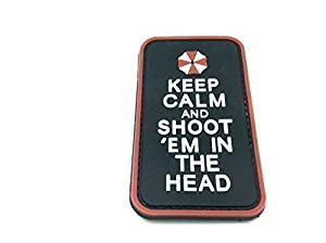 """Airsoft Patch PVC """"Keep Calm & Shoot Em In The Head"""""""