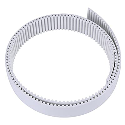 1/3/10 Meter HTD Open Timing Belt White Polyurethane Belt for 3D Printer CNC Engraving Mechines 15/30mm Width (1M 30mm)