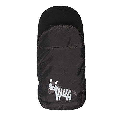 kemai bebé–Saco para cochecito saco de dormir multifunción cortavientos y impermeable negro negro