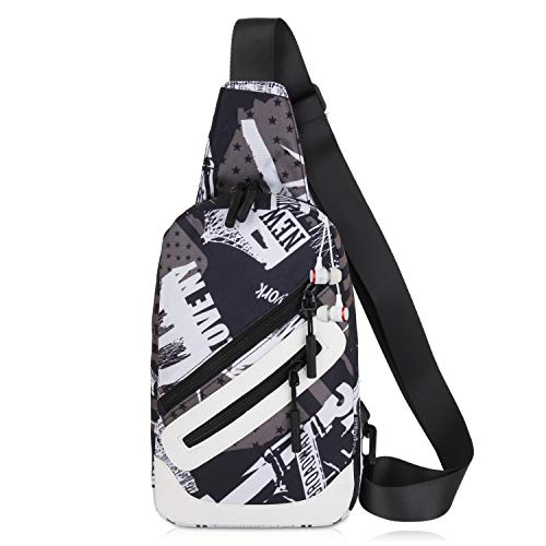Aggressive Goog.yu Unisex Fashion Handbag Outdoors Sling Pack Washed Canvas Bag Leisure Men Designer Chest Pack Women Single Shoulder Bags Home