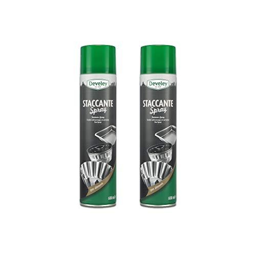 Aperisnack® - AP12.001.02 - Kit 2pz. Staccante Spray Alimentare Develey Uso Professionale per oleare, imburrare stampi e teglie 600ml