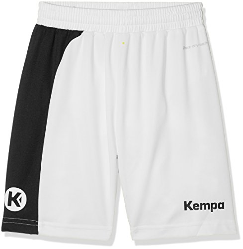 Kempa Herren Peak Shorts, Weiß/Schwarz, L