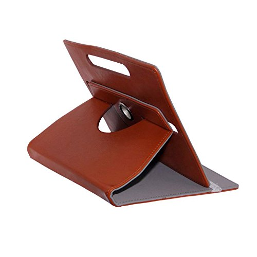 Fastway Rotating 360Deg Leather Flip Stand Cover For Lenvo A7-50 -Brown