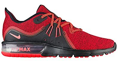 low priced 115dc 76311 Nike Air Max Men s Black and Crimson Shoes - 10US
