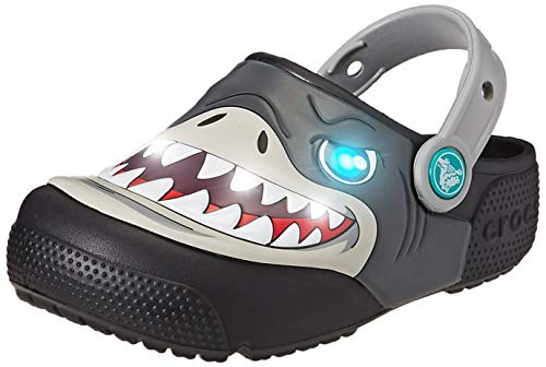 Crocs Crocs Fun Lab Lights Clog Kids, Unisex - Kinder Clogs, Schwarz (Black), 34/35 EU