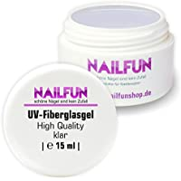 NAILFUN Gel UV in Fibra di Vetro 15 ml Trasparente