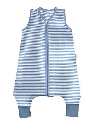 Sacco nanna con piedini leggero slumbersac per bimbo circa 0.5 tog - stricse blu - disponible in 5 misure, blu-bianco, 100 cm