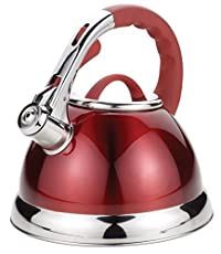 Uniware 2.8L S.S. Auto Whistilng Kettle Plastic Handle (Red) [3078]