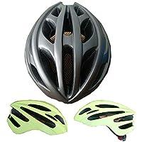EP-Helmet Casco De Bicicleta De Montaña, Casco De Seguridad Integrado, Armadura De Caballero,Chrome