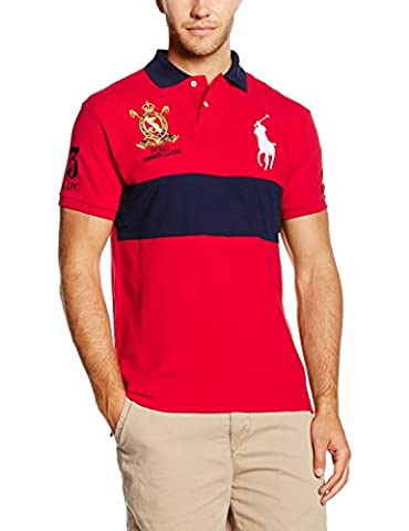Polo Ralph Lauren SSCUSTBPPM6-Short Sleeve-Knit, Homme, Rouge-Rot (RL 2000 Red A6412), M