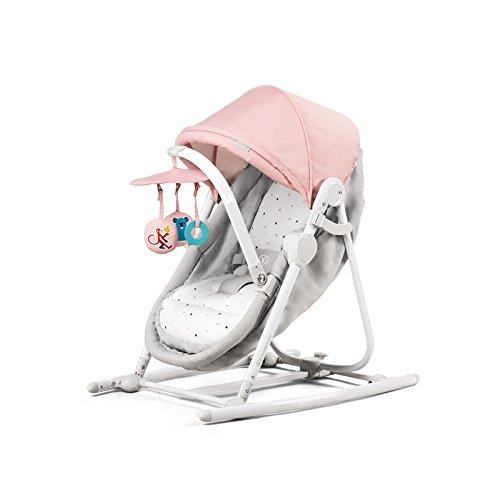 Kinderkraft Unimo Babywippe Babyschaukel Baby Wippe Liege Wiege Babysitz neue Kollektion (Rosa)