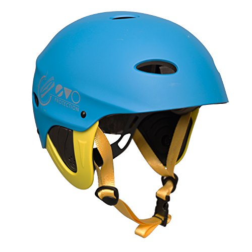 41DLUAfYNeL. SS500  - Gul Evo Kids Youth Junior Watersports Watersports Helmet for Kayaking Kitesurf Windsurf and Dinghy - Blue Fluro Yellow