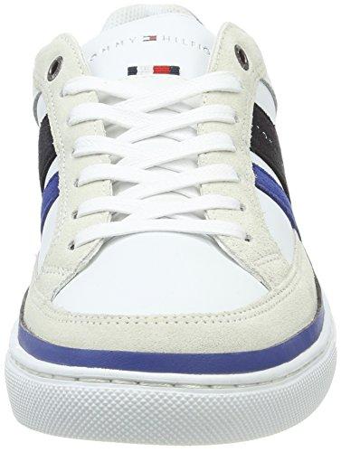 Tommy Hilfiger Herren M2285aze 1c1 Sneaker Weiß (Midnight-Monaco Blue-White)