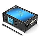 pour Raspberry Pi 3 B + 3.5 Pouces Écran Tactile TFT LCD avec Moniteur, écran de Jeu HDMI avec boîtier en Acrylique, 480 x 320 Pixels [Prise en Charge de Raspbian, Ubuntu, Kali, Système RetroPie]