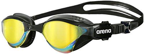 arena Unisex Triathlon Profi Wettkampf Schwimmbrille Cobra Tri Mirror (Verspiegelt, UV-Schutz, Anti-Fog), schwarz (Revo-Black), One Size