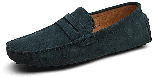 Eagsouni® Herren Mokassin Bootsschuhe Wildleder Loafers Schuhe Flache Fahren Halbschuhe Slippers