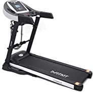 Fitkit FT100M Plus Series 1.75HP (3.25HP Peak) Motorized Treadmill With Free at Home Installation Services and