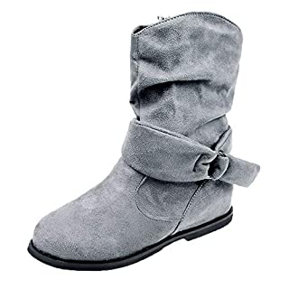 Sale!!! 2018 New Vintage Style Shoes Women Flat Booties Soft Shoes Cover Heel Ankle Boots Slip-On Middle Boots Round Toe Boots Women Loafers Partywear