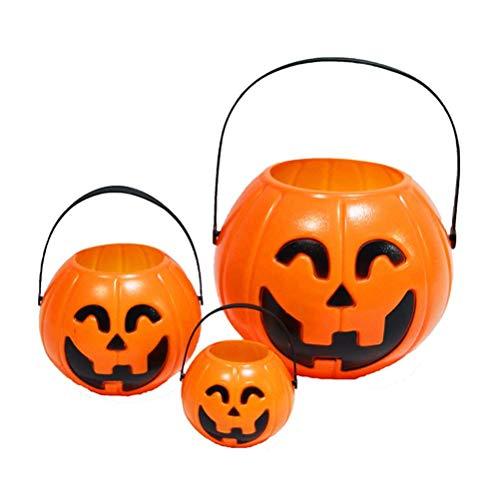ASOSMOS LED Papier Kürbis Hand Laterne Licht Süßigkeit Eimer Lampe Halloween Party Kinder Kinder Spielzeug Requisiten