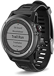 Garmin Fenix 3 Smartwatch GPS Multisport, Display a Colori, Altimetro Barometrico e Bussola Elettronica, Grigi