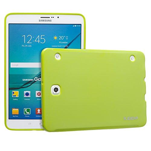 Juppa® Samsung Galaxy Tab S2 8,0 Zoll SM-T710 T715 TPU Silikon Tasche Hülle Schutzhülle mit LCD displayschutzfolie und Mikro-Reinigungstuch - Rot / Red Grün