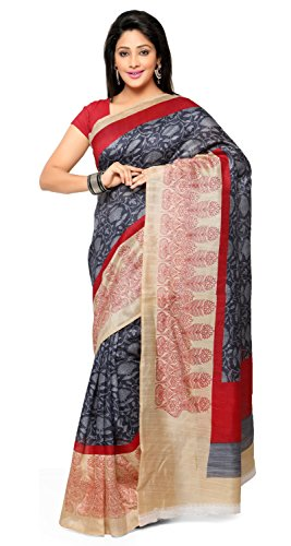Triveni Women's Jute Printed saree_TSAND053A