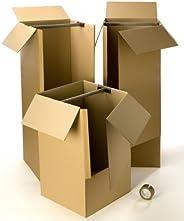 Kit cartons déménagement vêtements avec 1 rouleau d'adhésif gra