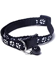 Futurekart Adjustable Length Cat Collar with Bell (Black)