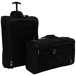5 Cities The Valencia Collection Juego de Maletas TB830 / HD602 Black, 55 cm, 42 L, Negro