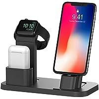 Soporte para Apple Watch, BEACOO, soporte de carga, estación de carga, soporte para estaciones de carga, sujeción para Apple Watch, modo de soporte nocturno y iPhone X/7/7plus/SE/5s/6S/Plus con varias fundas.