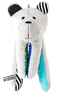 Whisbear - Der summende Bär (Türkis) - Stofftier zur Beruhigung Einschlafhilfe für Ihr Baby - ideales Geschenk zur Geburt - Teddybär - Kuschelbär - (Türkis)