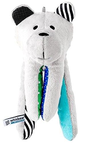 Whisbear - der summende Bär, Ein- und Durchschlafhilfe für Babys und Eltern, Stofftier mit integriertem CrySensor, türkis