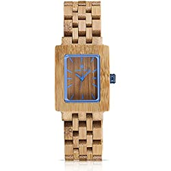 Natral Bamboo Watches Design Unisex Size Bamboo Mens Watches And Womens Wristwatches Japan Quartz Movement Display Cool