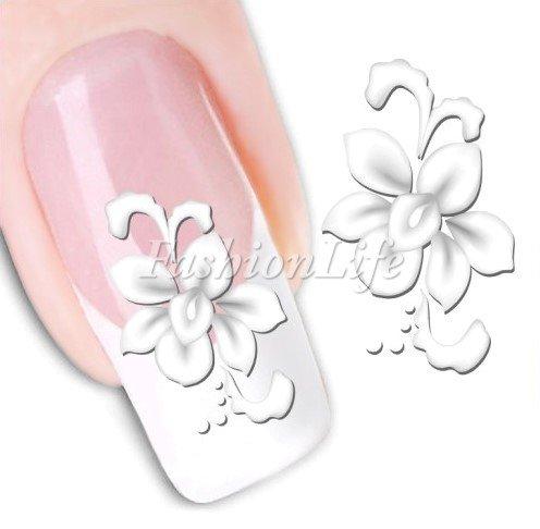 Nagel Sticker Nail Art Nass Abziehbilder mit Blumen - Blume #219 Nail Sticker Tattoo - FashionLife