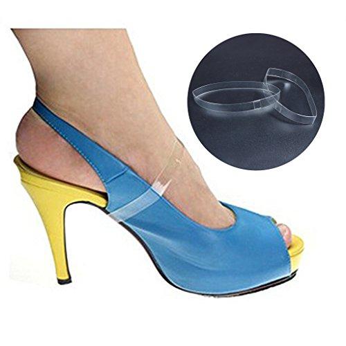 ewinever(R) 3pair Klar Unsichtbare High Heels Lose Schuh Straps-Plattform-Keil-Pumpen Transparent Frauen - Schuh Klar Heel