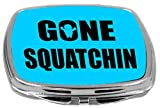Rikki Knight Compact Mirror, Gone Squatchin On Blue