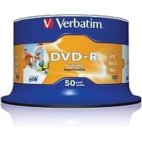 Verbatim 43533 DVD-R 4,7 GB 16x Druckbare 50 Pack Spindel