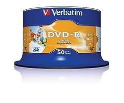 VERBATIM PRINT DVD 50 PACK