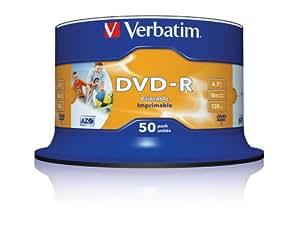 Verbatim 43533  DVD-R 16x 50-pack  Printable Optical Media
