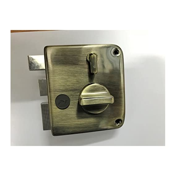 godrej tribolt main door lock ultra xl deadbolt antique brass (free installation)
