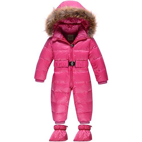ZOEREA Piumino Bambino Invernale Tuta Giacca Bambina Antivento Piumino  lungo Cappuccio tute da sci Cappotto Bambina Snowsuit per Bambini 85d4296b2d8a