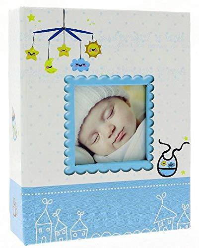 Album nascita foto bimbo blu per 200 foto 10x15 cm