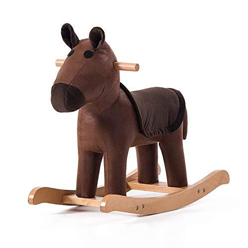 MANXUEUP Chair Kinder Schaukelpferd Massivholz Tier Hocker Baby Cartoon Hocker Spielzeug Trojaner Niedlichen Schaukelstuhl Kleine BankStyle3 -