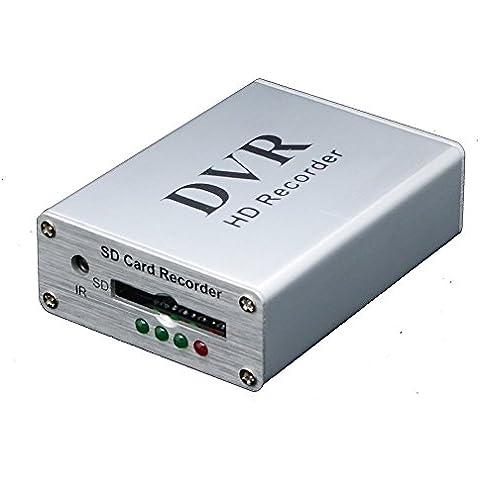 Grabador de vídeo digital Coomatec Mini DVR compatibilidad con tarjetas SD en tiempo real para FPV y el vehículo HD mini 1 canal de vídeo