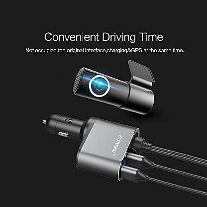 FLOVEME-KFZ-Ladegert-Dual-USB-Ports-Auto-Ladegert-USB-Adapter-fr-iPhone-XS-MAXXSXRX-87P-66s6p-Samsung-S9S8-Plus-Note-8-usw-Grau