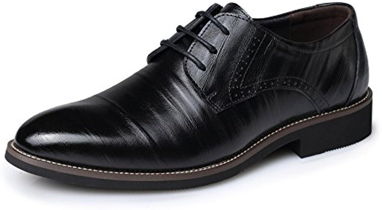 Fang shoes  2018 Männer PU Lederschuhe Klassische Lace up Loafers Low Top Gefüttert Formale Geschaumlfts Oxfords