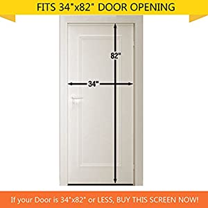 "Calish Magnetic Screen Door with Heavy Duty Mesh Curtain and Full Frame Velcro, Easy Installation, No Gap, Fits Door Size up to 34""-82"" Max with Highly Effective Mosquito Repellent Bands Pack of 4 by Calish"