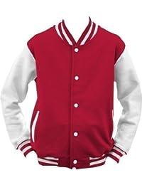 ShirtInstyle College Jacke Jacket Retro Style L,Rot