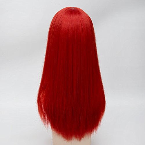 55cm Long Vogue 15 Colors Straight Style Women Anime Synthetic Cosplay Hair Wig+Wig Cap